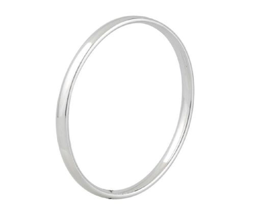 5.5 mm Rounded Plain Sterling Silver Polished Bangle SCOB3